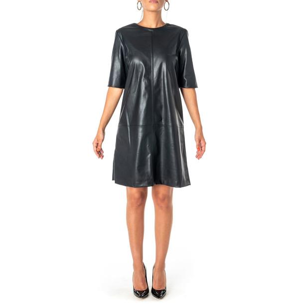 Be Blumarine Faux Leather Dress in black