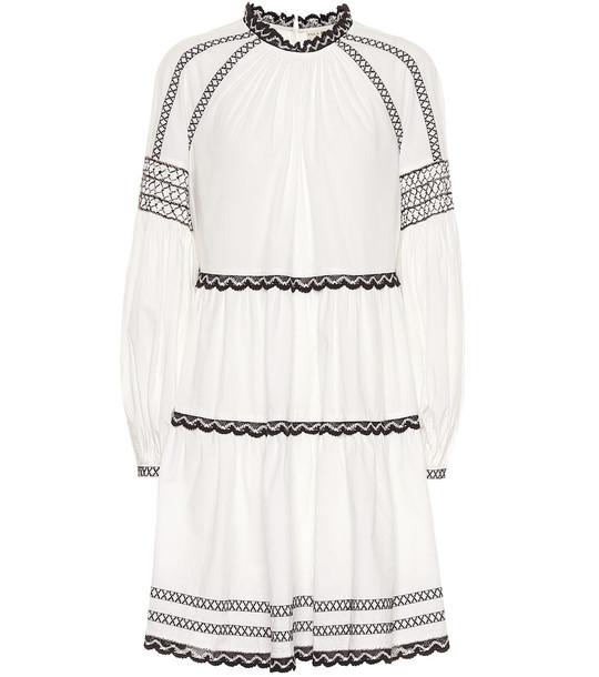 Ulla Johnson August cotton-poplin minidress in white