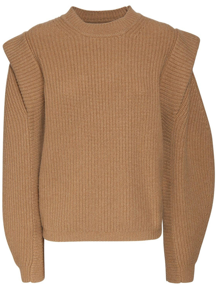 ISABEL MARANT Bolton Wool & Cashmere Knit Sweater in camel