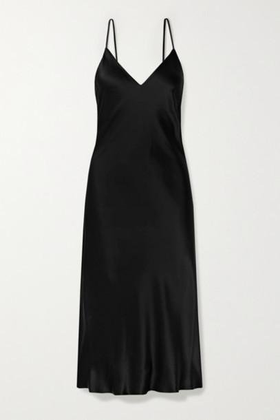L'Agence - Jodie Silk-satin Midi Dress - Black