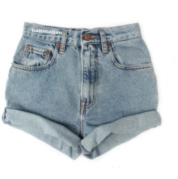 shorts high waisted denim shorts light blue