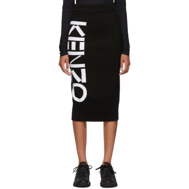 Kenzo Black Sport Tube Mid-Length Skirt