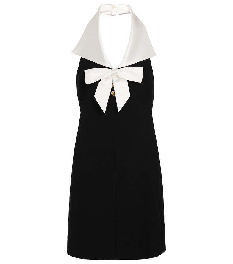 Saint Laurent Halterneck minidress in black