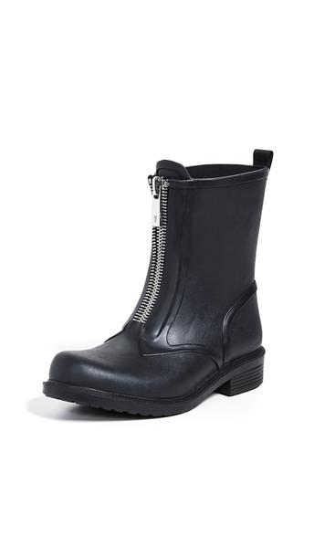 Frye Storm Zip Rain Booties in black