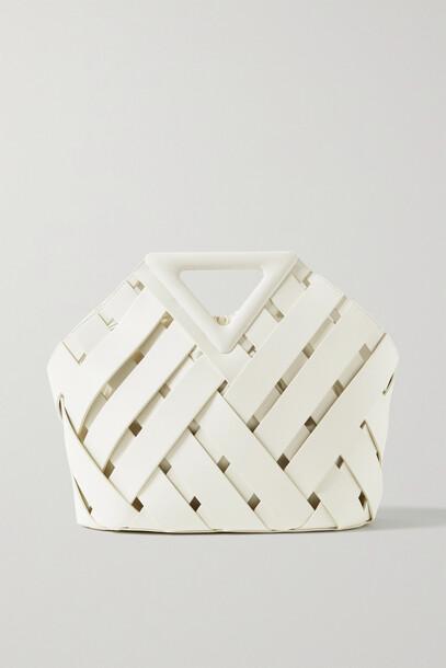 Bottega Veneta - Point Basket Intrecciato Leather Tote - White