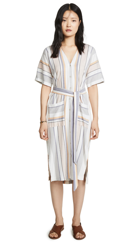 Three Dots Portofino Stripe Dress in multi
