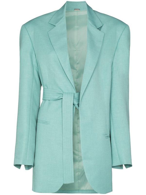 Dodo Bar Or Coco tie-fastening waist blazer in blue