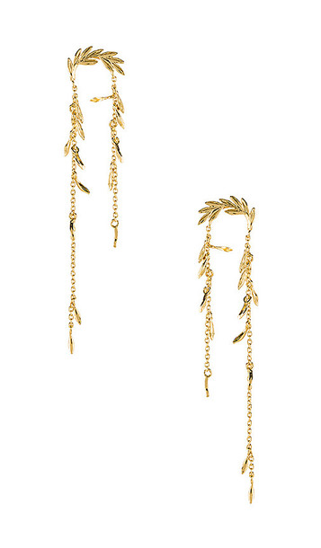 gorjana Willow Earrings in Metallic Gold