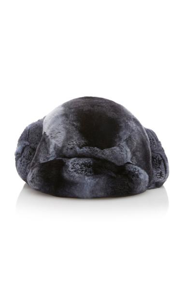 Albertus Swanepoel Rex Fur Hat Size: L in navy
