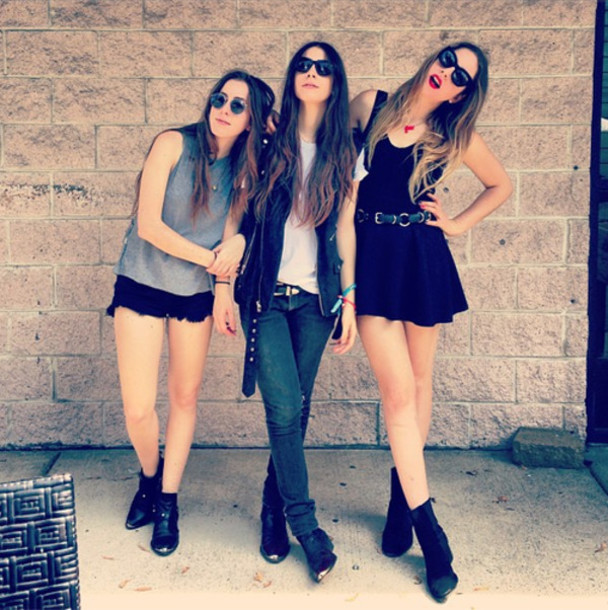 shoes black boots booties dress sunglasses jeans grunge ombre metal