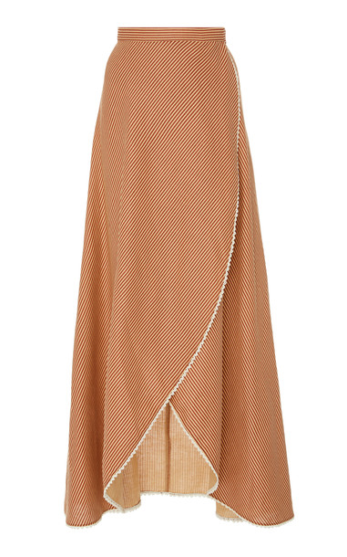 Miguelina Ballerina Wrap Skirt in red