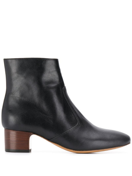 A.P.C. low heel boots in black