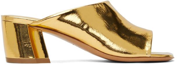 Dries Van Noten Gold Metallic Heeled Sandals