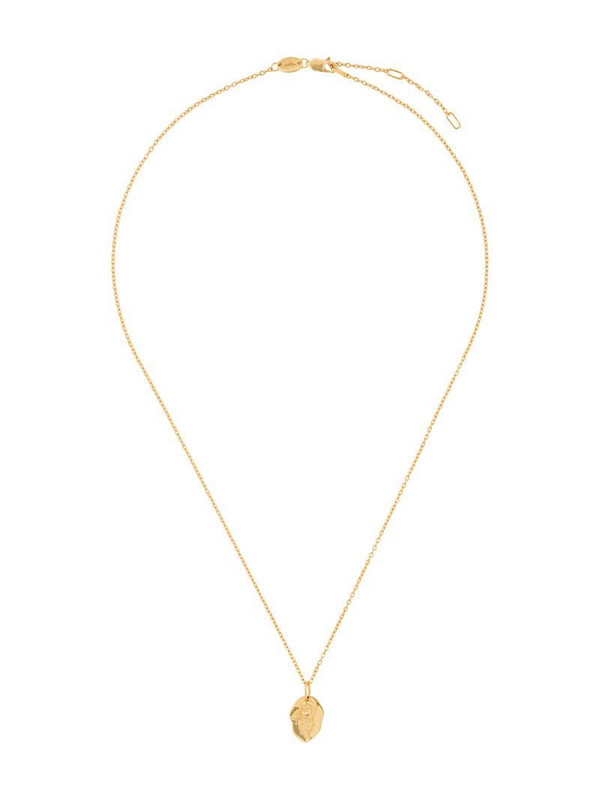 Northskull cupid pendant necklace in gold