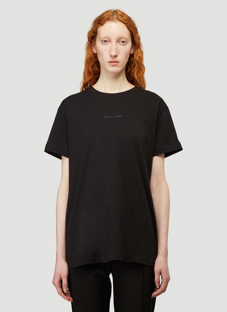 1017 ALYX 9SM Zip Back T-Shirt in Black size XS