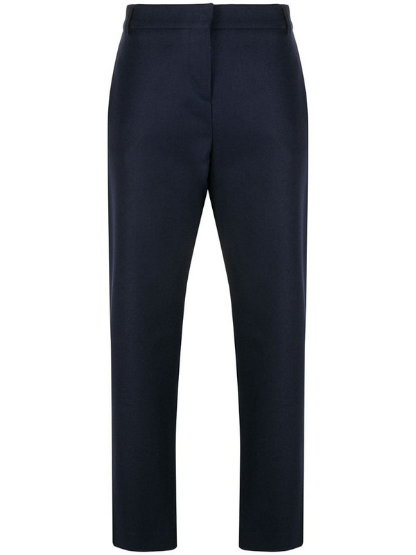 Eleventy stud-detailing tailored trousers in blue
