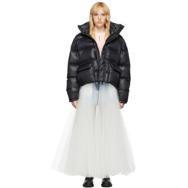 Unravel Black Down Shiny Jacket