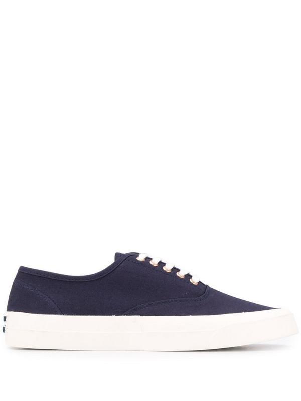 Maison Kitsuné contrast low-top sneakers in blue