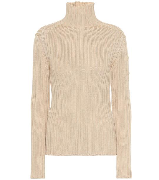 Chloé Wool-blend turtleneck sweater in beige