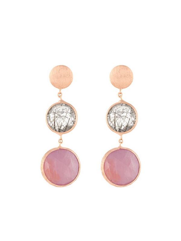 Tateossian 14kt gold Kensington drop earrings