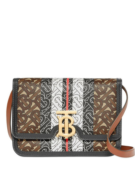 Burberry small monogram stripe TB Bag in brown