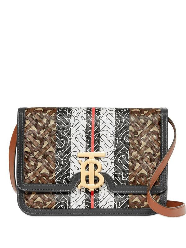Burberry small monogram stripe TB Bag in brown