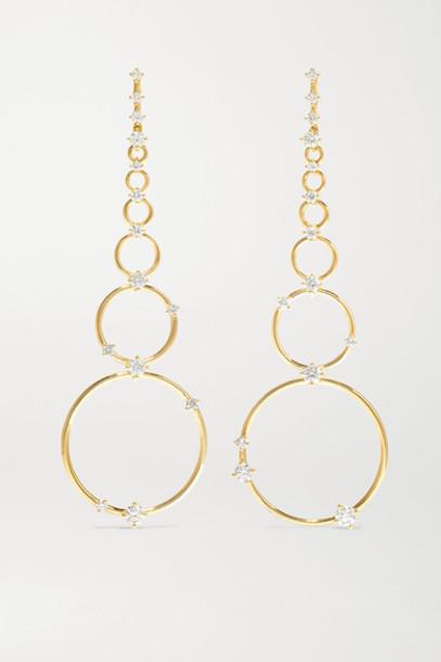 Fernando Jorge - Aerial Loops 18-karat Gold Diamond Earrings