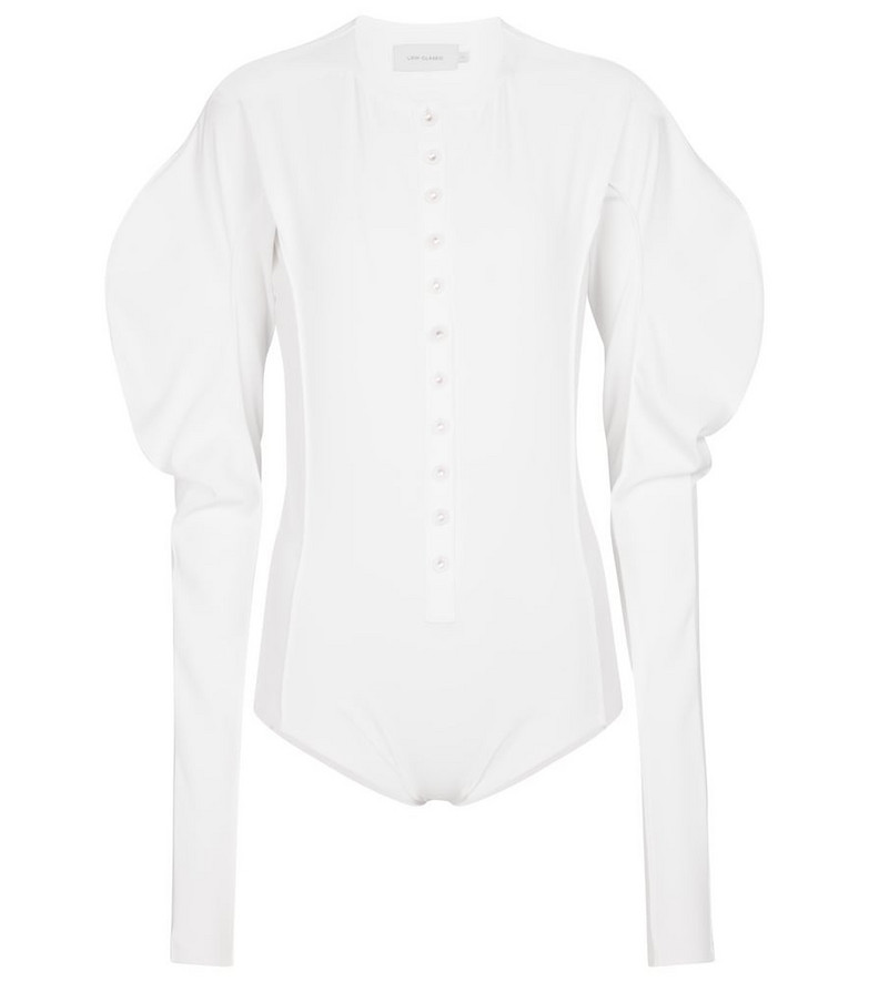 Low classic Stretch-jersey bodysuit in white