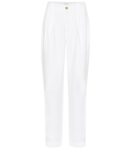 Vince High-rise tapered pants in white