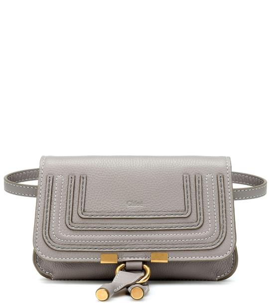 Chloé Marcie leather belt bag in grey