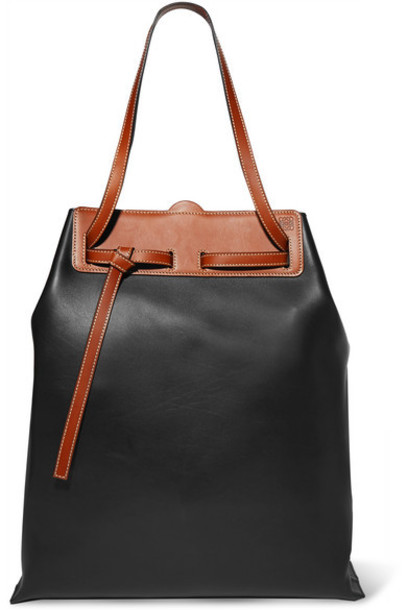 Loewe - Ruk Two-tone Leather Tote - Black
