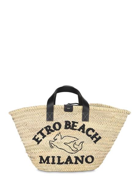 ETRO Raffia Bucket Bag in natural