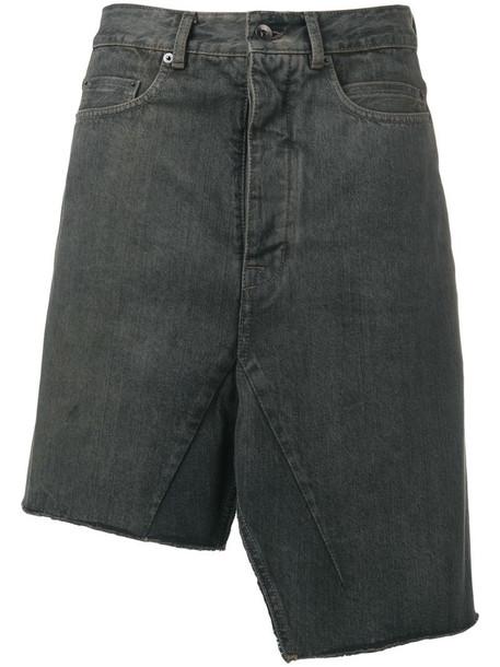 Rick Owens DRKSHDW asymmetric denim skirt in blue
