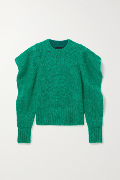 Isabel Marant - Ivelyne Mohair-blend Sweater - Forest green