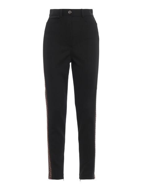 Fendi Piquet Trousers in black