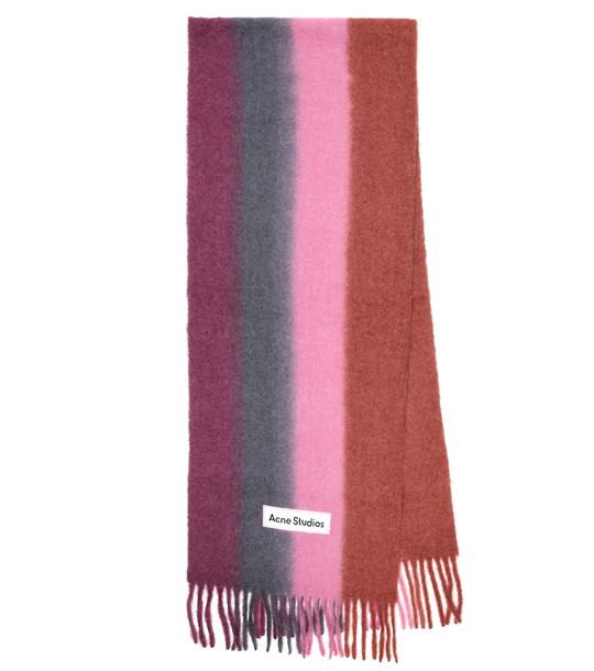 Acne Studios Striped alpaca hair-blend scarf