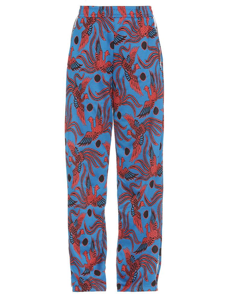 Kenzo Pattern Pants in cobalt