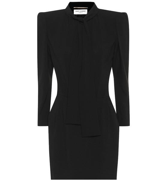 Saint Laurent Crêpe minidress in black