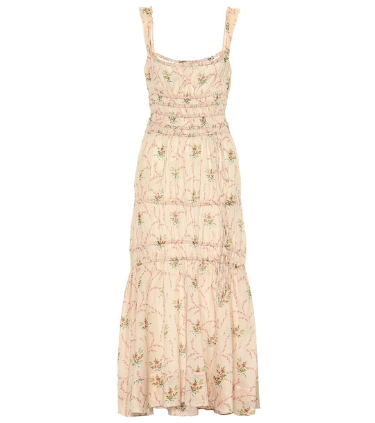 Brock Collection Prisca printed cotton dress in beige