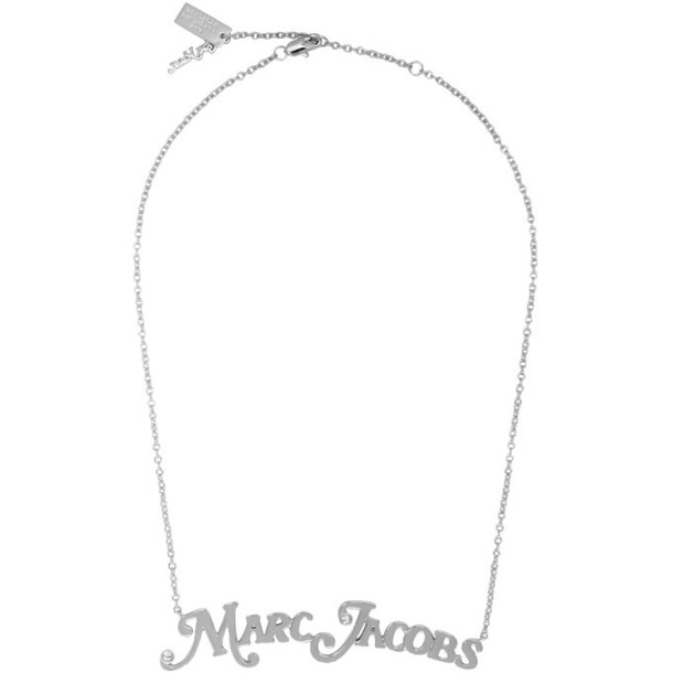 Marc Jacobs Silver New York Magazine Edition The Nameplate Pendant MJ Necklace