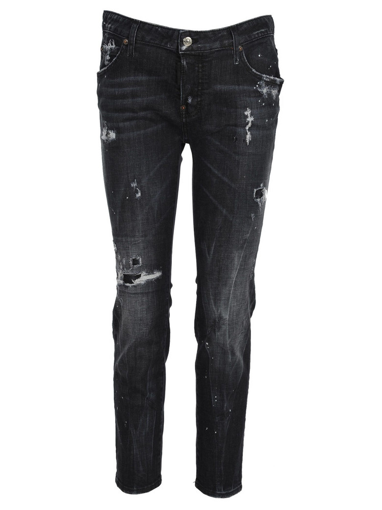 Dsquared2 D Squared Dsquared Distressed Jeans in black