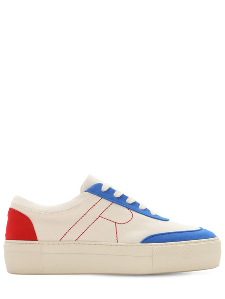 REJINA PYO 30mm Bailey Cotton Canvas Sneakers in white / multi