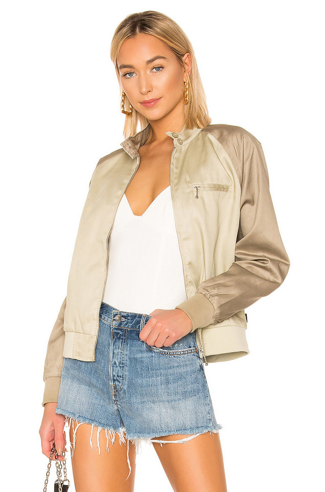 Stussy Louise Tow Tone Harrington Jacket in tan