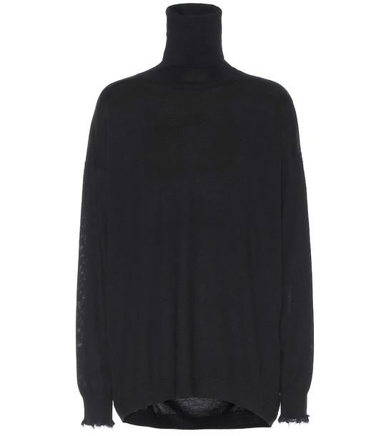 Acne Studios Wool turtleneck sweater in black