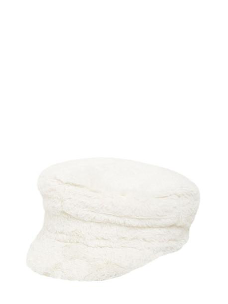 RUSLAN BAGINSKIY Baker Boy Faux Fur Hat in white