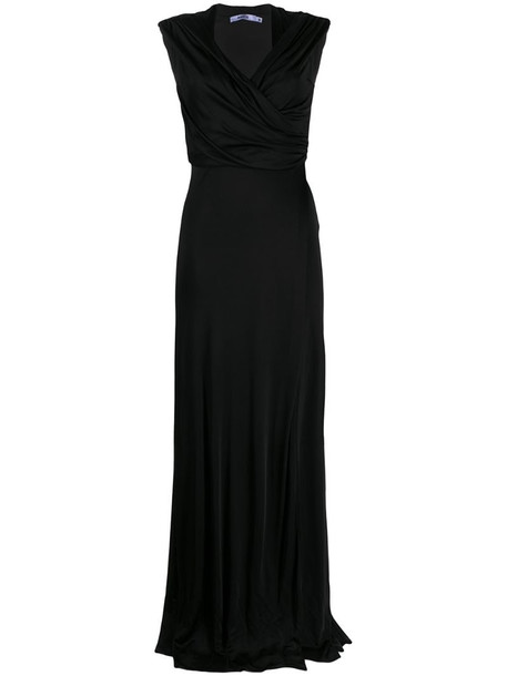 Amen twist front maxi dress in black