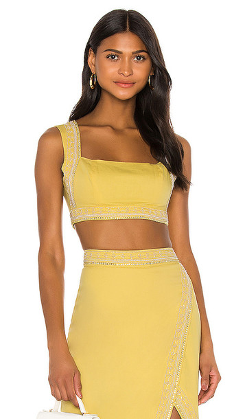 Song of Style Bertha Top in Yellow