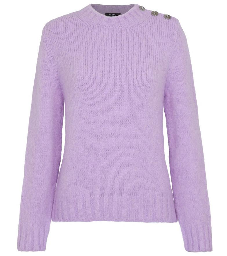 A.P.C. Justine knit sweater in purple