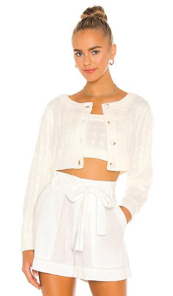 MAJORELLE Amalia Cardigan in White