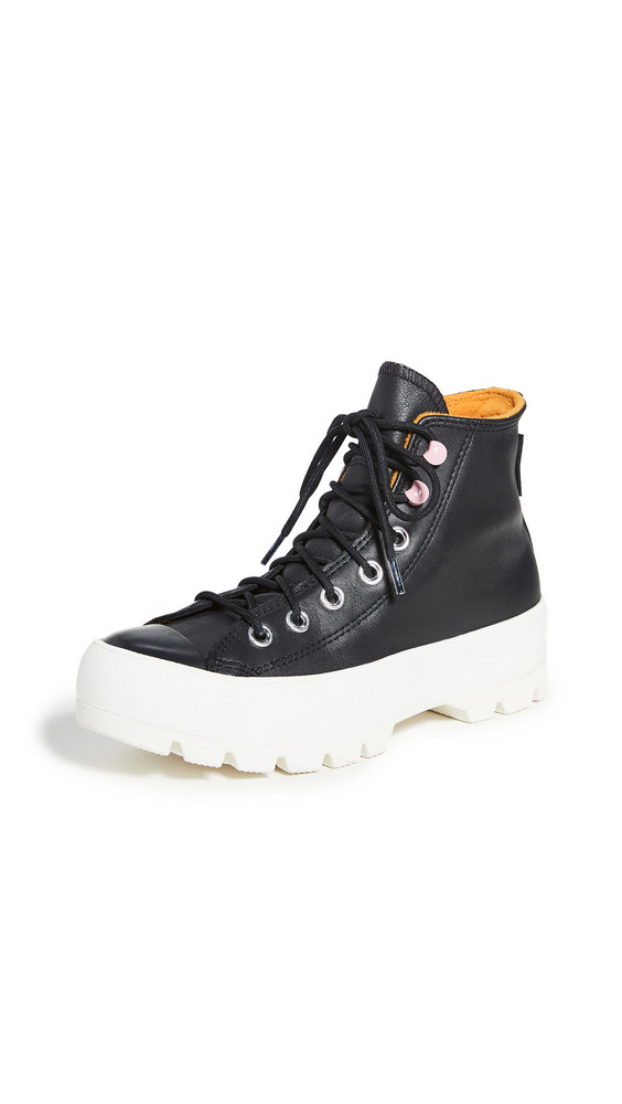 Converse Chuck Taylor All Star Lugged Winter Sneakers in black / yellow